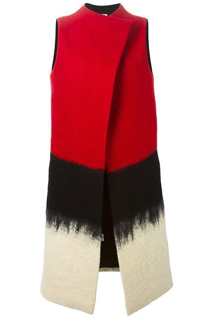 25 Flattering Winter Coats That Look Perfect On Everyone #refinery29 http://www.refinery29.com/flattering-winter-coats#slide-25 This brush-stroked, cape-like vest has sartorial superhero abilities....