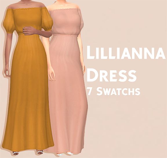 Lillianna Dress   [#ts4_adult_fullbody]