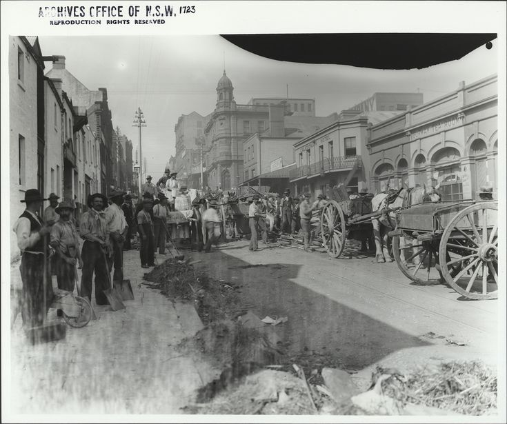 King Street during the plague clean up | by State Records NSW