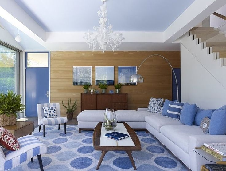 Modern Summer House   Contemporary   Living Room   New York   Austin  Patterson Disston Architects   Cool Easy Blues, Whites, Natural Warm Woods
