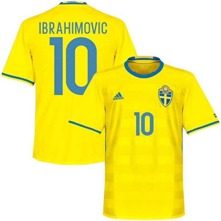 Sweden Home Ibrahimovic Jersey 2016 / 2017 (Official Printing) - XXXL. 100% Polyester. Dekagraphics - adidas Performance. Yellow.