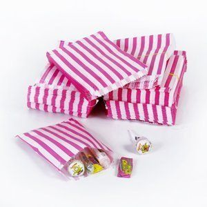 "Pink Candy Stripe Paper Bags - 5"" x 7"" - (1 pack =100 bags) by Unipack Ltd, http://www.amazon.co.uk/dp/B003TT4D8Y/ref=cm_sw_r_pi_dp_7A7etb0REXMCZ"