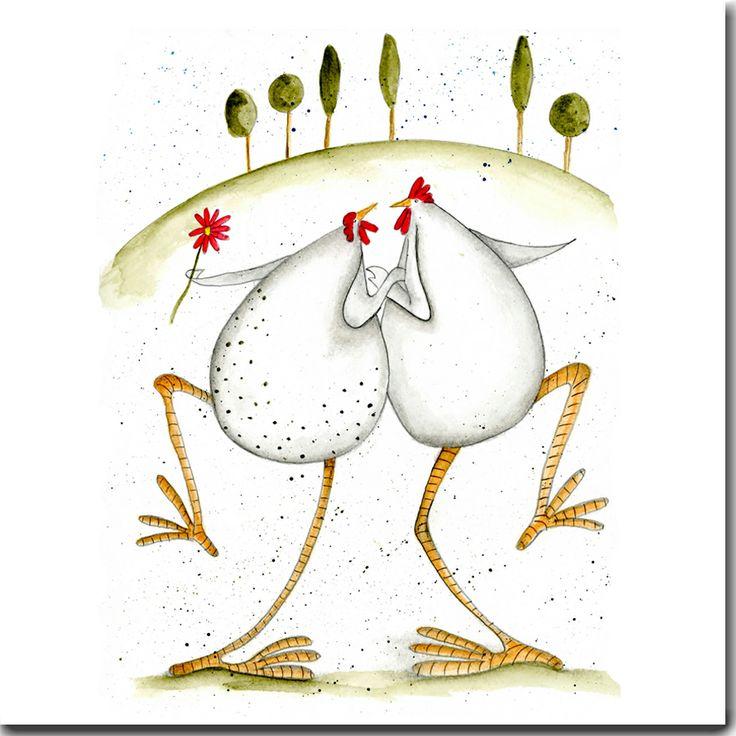 Dancing Hens Greeting Card www.theskinnycardcompany.co.uk