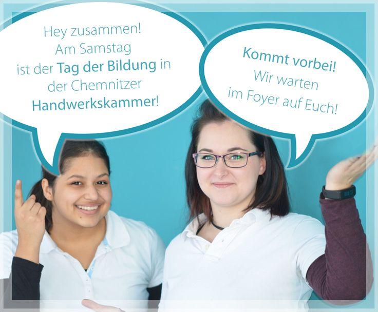 Ihr wollt mehr über eine #Ausbildung zum #Zahntechniker erfahren? Dann kommt diesen Samstag, den 14. Januar 2017, zu uns in die andwerkskammer #Chemnitz! Wir freuen uns auf Euch! :)