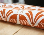 Burnt Orange - Belbird Design - Hand Screen Printed Fabric