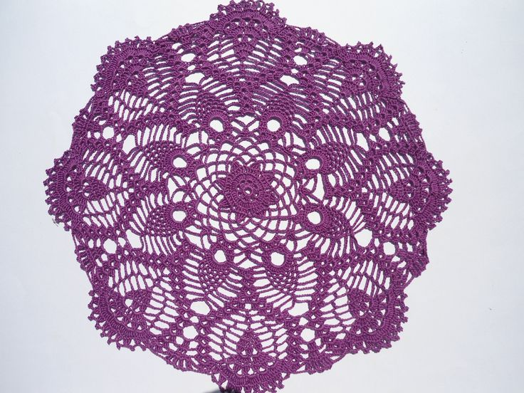 "Violet crochet doily, purple doilies, lace doily, crochet centerpiece, 14"" by kroshetmania on Etsy"