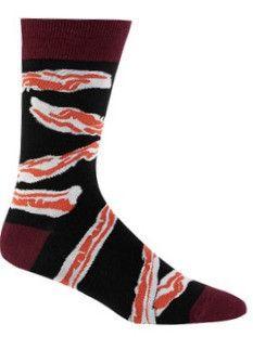 Bacon Crazy Food Novelty Socks for Men