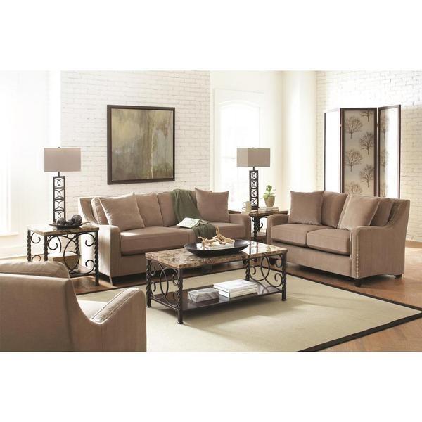 Mabel 3-piece Taupe Living Room Set