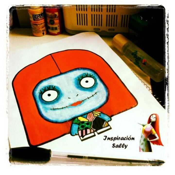 Criatura Inspiración Sally #illustration. #dibujo #cartoon #ilustración #ilustracion