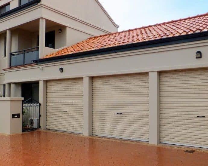 Three Single Roller Doors Paperbark Roller Doors Garage Doors Garage Door Opener Installation