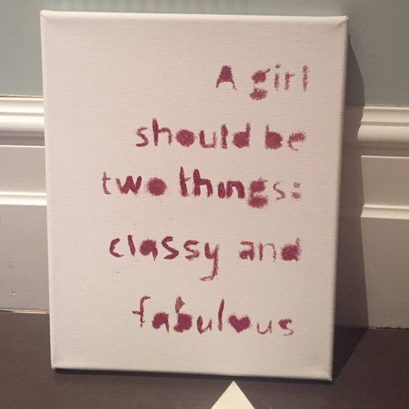 Coco Chanel Quote in Glitter on Canvas Pink glitter quote I believe an 6x8 Other