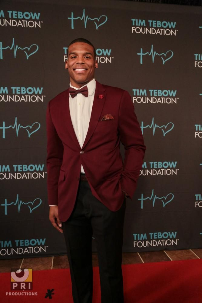 Cam Newton at the Tim Tebow Celebrity Gala 2015