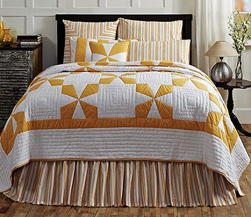 New Country Yellow Mustard White MALTESE CROSS QUILT Queen Bed 3 Pc Set. 162 best Cozy Bedding images on Pinterest   Comforter  Cozy and