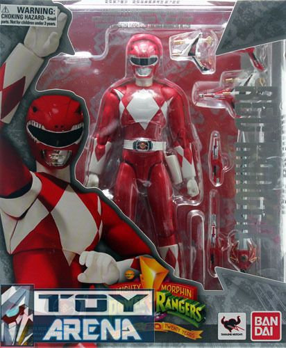 S H Figuarts Mighty Morphin Power Rangers Red Ranger Action Figure Bandai Jason | eBay