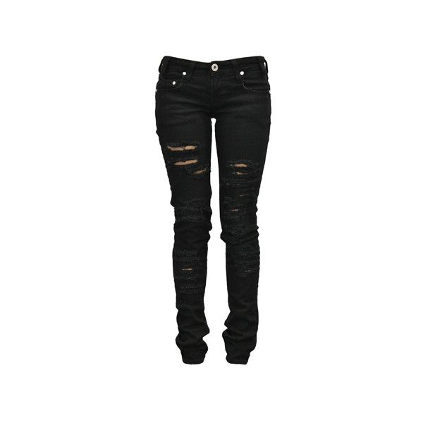 Denim Of Virtue Ripped Acid Wash Jeans Denimology ❤ liked on Polyvore