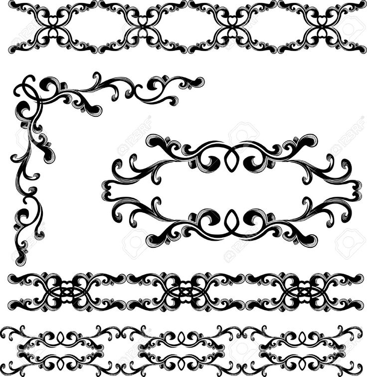 9059560-Decorative-elements-and-borders-set-stencil-Stock-Vector-art-stencil-deco.jpg (1267×1300)
