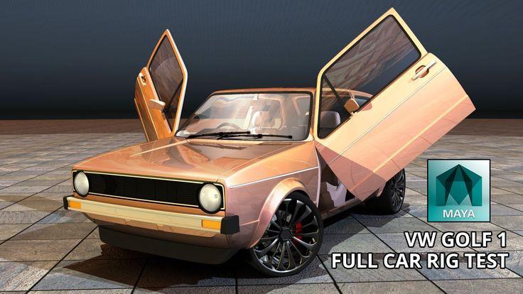 Autodesk Maya 2015 VW Golf 1 Full Car Rig (Free 3D Model Downloads)