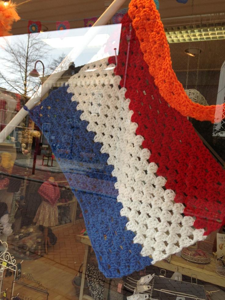 Granny dutch flag... Nederlandse vlag gehaakt!