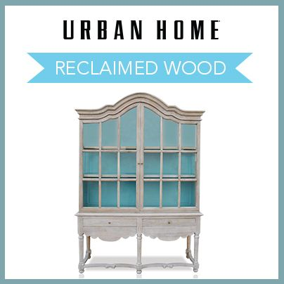 With reclaimed wood pieces, you can add character and charm to your home.  Urban
