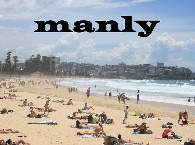 Manly Beach, AU at Christmas