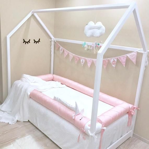 Montessori Bed Bumpers Montessori Floor Bed Unicorn Girls