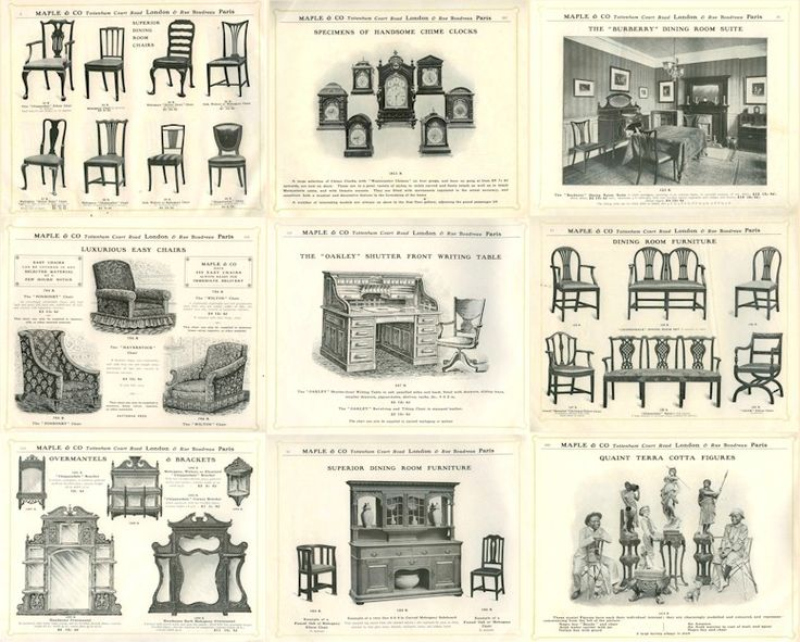 arts and craft history of furniture - types of backs and legs
