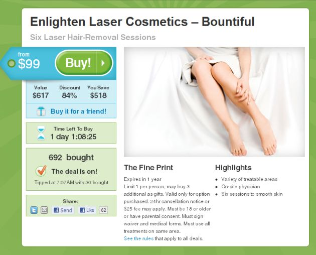 Are Groupon Deals Killing Your Medical Spa?  There's a deluge of Groupon offers from Medical Spas who are using cheap laser hair removal treatments to gain new patients... Is it working?
