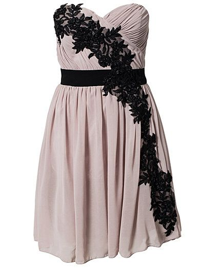 Little Mistress Flower Pleated Strap Dress