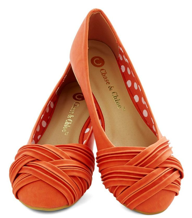 Chase and Chloe orange flats