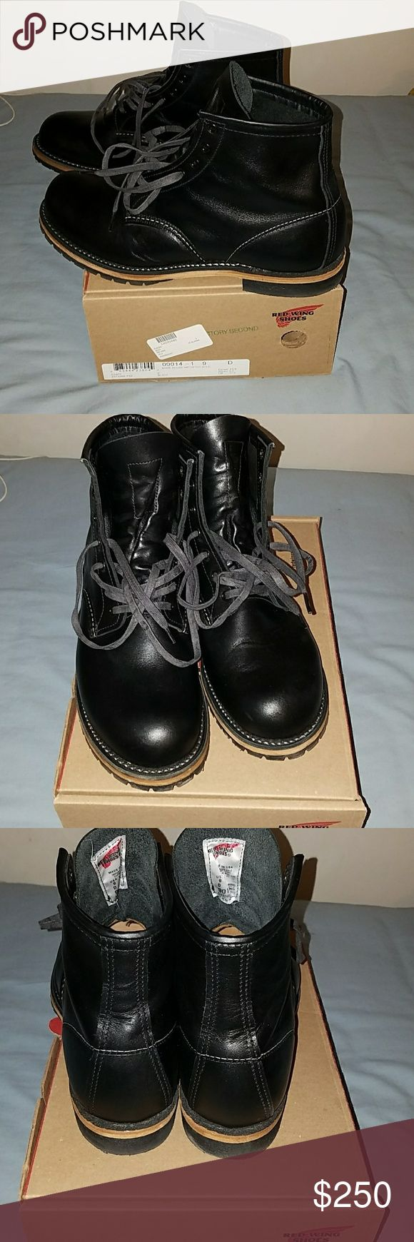 Red Wing Beckman Round Worn 1 time, please see pictures for very slight wrinkles in leather. These are factory seconds but that DOES not change the quality at all. These are not even broken in and are like brand new! They retail at $350 plus tax. Red Wing Shoes Shoes Boots