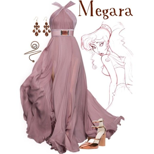"""""""Megara"""" by alyssa-eatinger on Polyvore. I would love that dress if it was a different color like blue!"""