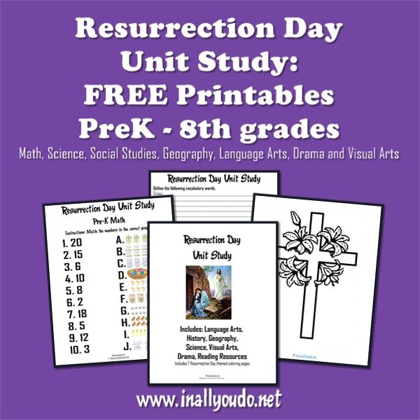 FREE Resurrection Day Unit Study from In All You Do