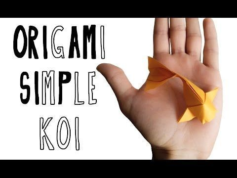 Schön und endlich ein bisschen leichter! ▶ Origami Einfache Koi (Riccardo Foschi