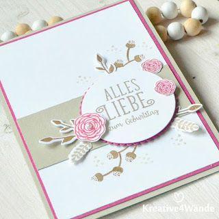 Alles Liebe, Geburtstagskind! Happy Birthday Gorgeours Stampin`Up! Glückwunschkarte