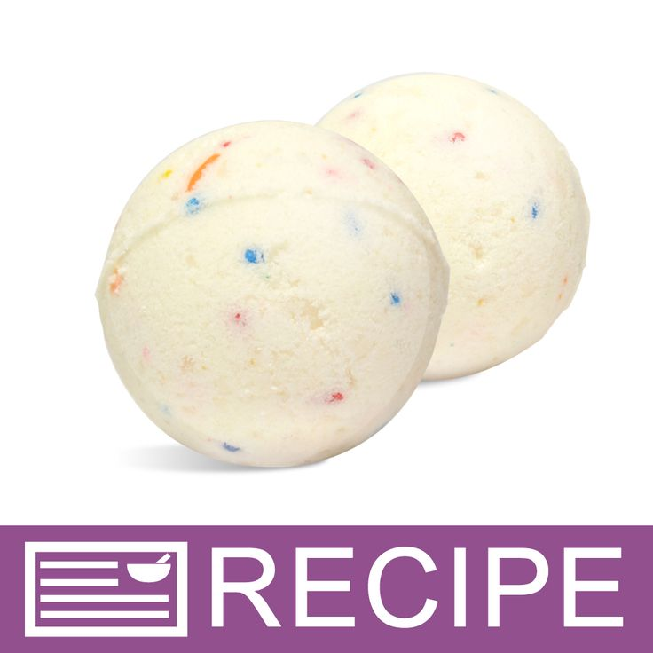 RECIPE: Birthday Cake Bath Fizzies.The birthday colors are real cupcake sprinkles that will just melt in the tub while the moisturizing ingredients of apricot kernel oil and shea butter help to smooth and soften your skin.