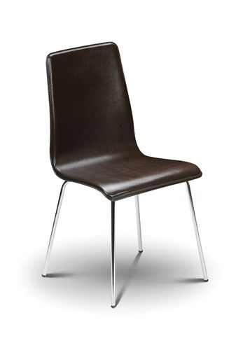 mandy dining chair, leather dining chair, brown dining chair, ireland dining chair, brown leather dining chair