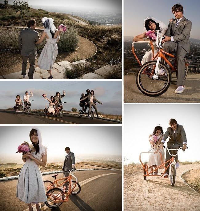 Bike wedding photo ideas