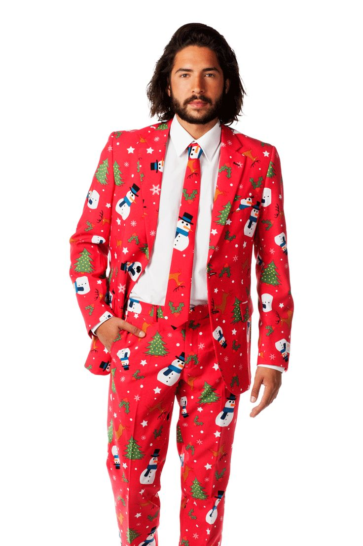 The Ugly Christmas Sweater Suit - To class up the sweater parties.