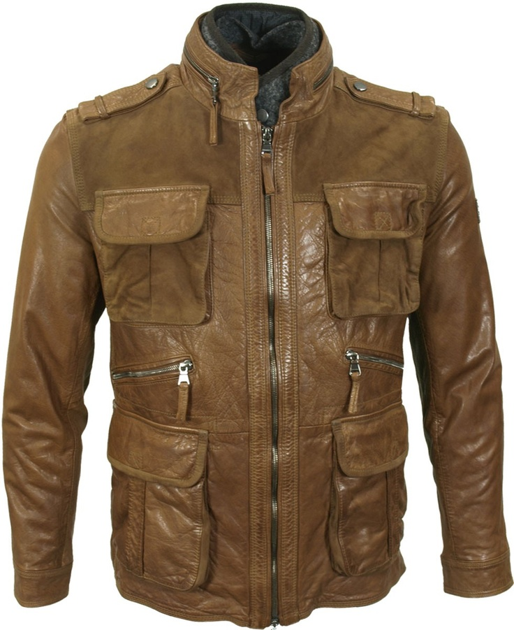 Hugo Boss Leather Jacket - Brown [Phaedra's Leather Jacket Option 1]