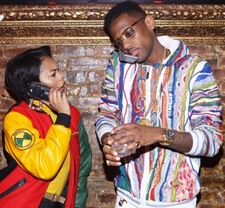 90s African American couple | 90s hip hop fashion