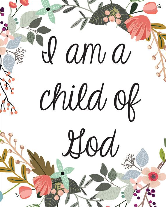 I Am A Child Of God Printable INSTANT DOWNLOAD by CraftMei