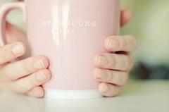 pink starbucks mug!