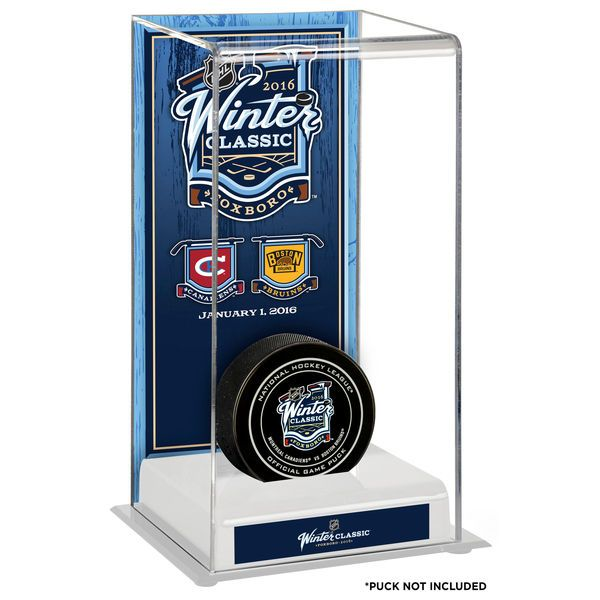 Fanatics Authentic 2016 NHL Winter Classic Montreal Canadiens vs. Boston Bruins Deluxe Tall Hockey Puck Display Case - $59.99