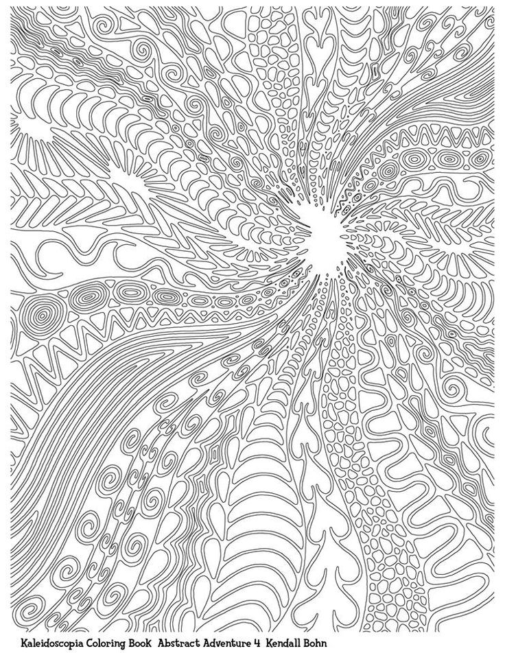 Abstract Doodle Zentangle Paisley Coloring Pages Colouring