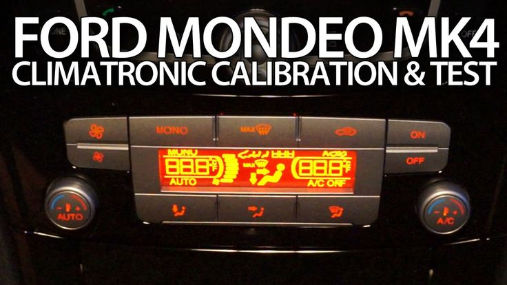 How to #calibrate #Climatronic in #Ford #Mondeo MK4 air condition #selftest #adaptation #cars