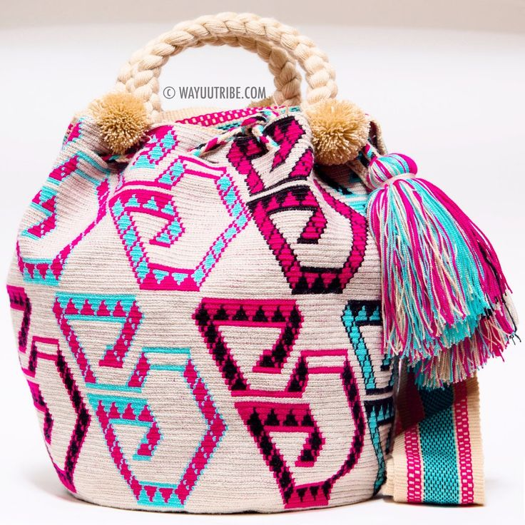 One of A Kind Wayuu Mochila Bag - Single Woven Thread, Quick Ship Anywhere, and International! $275.00 #wayuubags www.wayuutribe.com