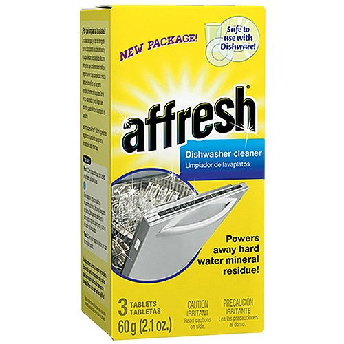 affresh Dishwasher Cleaner, 6 count, 4.2 oz - Walmart.com.  To be used 1X/mo.