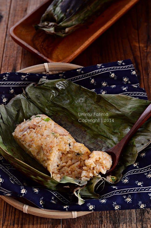 Simply Cooking and Baking...: Nasi Bakar Ayam Teri Nasi