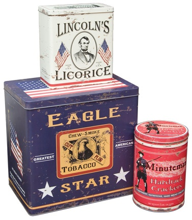 Image detail for -Vintage Americana Advertising Tins Set