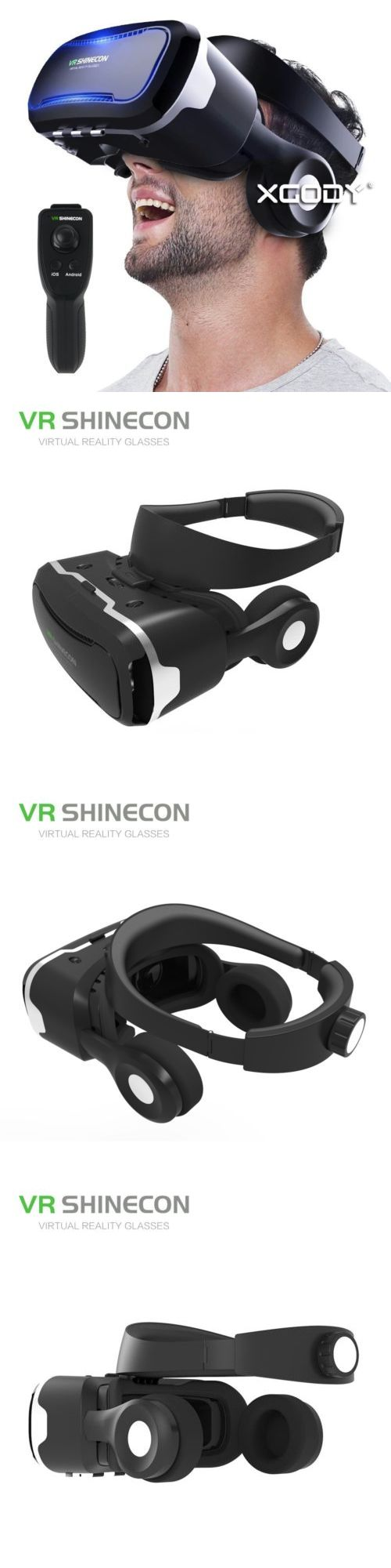 3D TV Glasses and Accessories: Vr Shinecon 4.0 Virtual Reality Headset For Smartphone With Gamepad And Earphone -> BUY IT NOW ONLY: $32.22 on eBay!